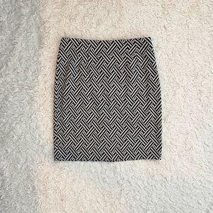 Halogen Gray & Black Pattern Mini Skirt Size 8
